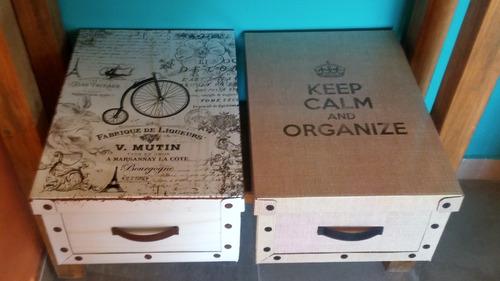 caja carton organizador grande multiuso ropa juguetes deco