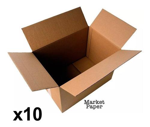caja carton reforzado 40x30x30 atado x10 mudanza