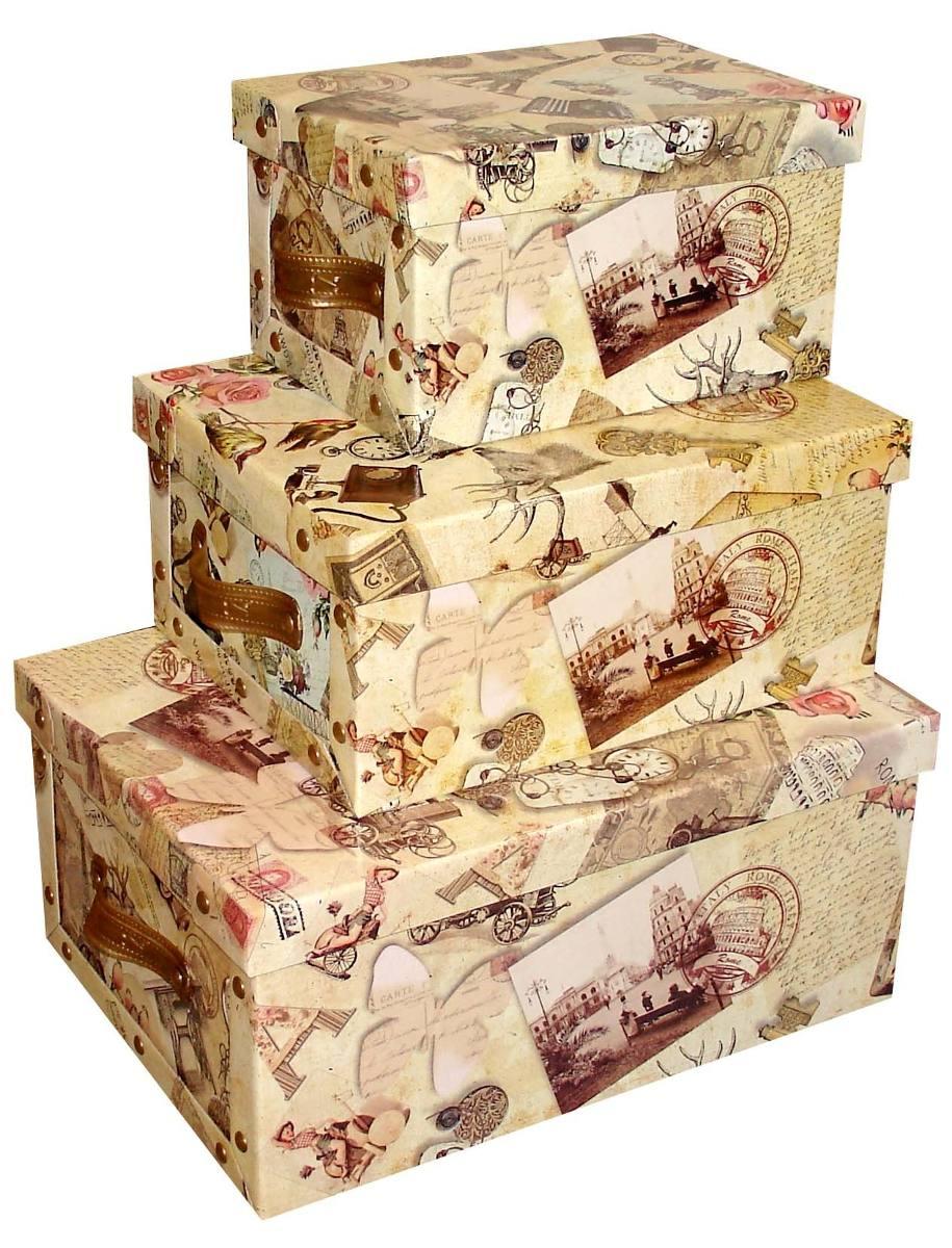 Cajas Carton Decoradas Grandes Vintage Decoraci N Para El Hogar  ~ Cajas De Carton Decorativas Grandes