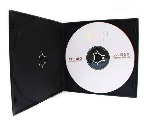 caja cd dvd doble slim 5mm importadas por unidad