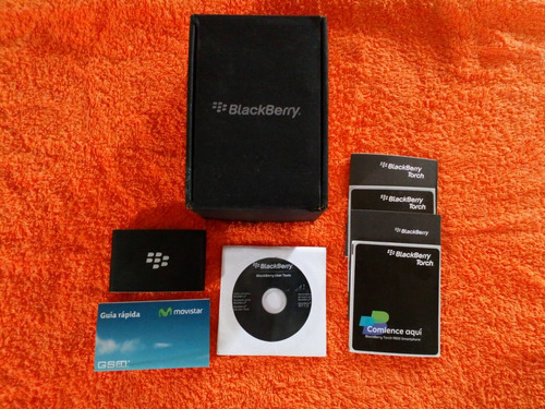 caja celular smartphone blackberry torch 9800 cd rom manual