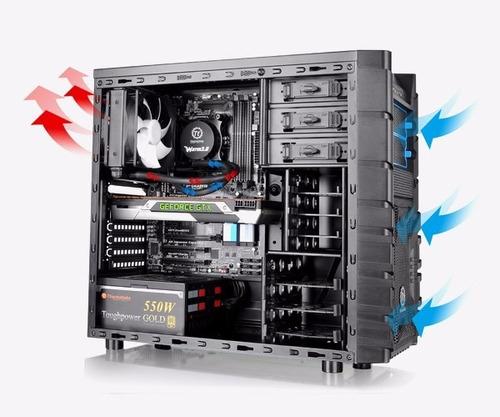 caja chasis gamer thermaltake h23 con fuente de 600w
