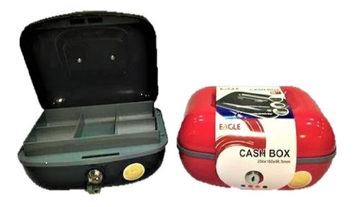 caja chica para efectivo joyas eagle  8   color rojo
