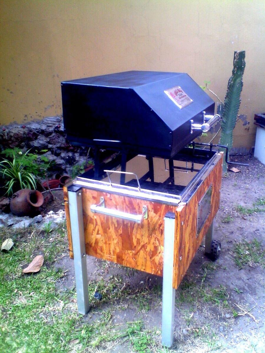 Caja china de acero inoxidable con parrilla tapa ahumadora for Muebles usados arequipa