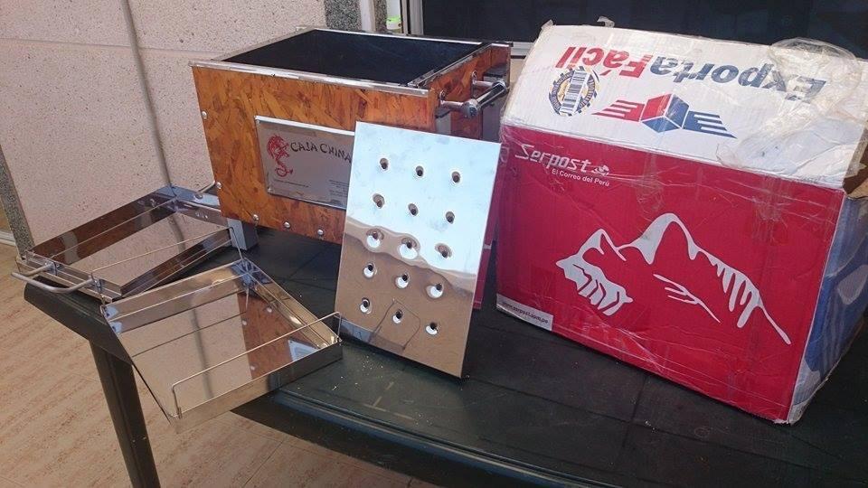 Caja china port til con parrilla mas cuchillo de regalo for Regalo muebles usados