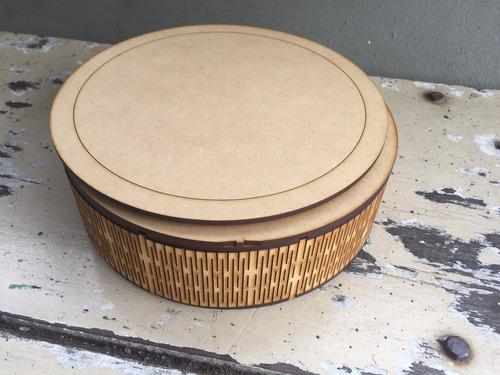 caja circular 20x6 fibrofacil mdf