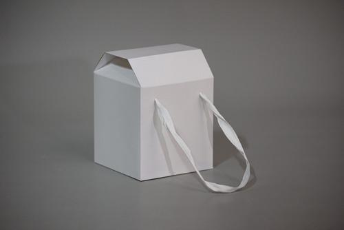 caja c/manijas 13x13x17,5cm (x 50 u.) pan dulce taza huevo