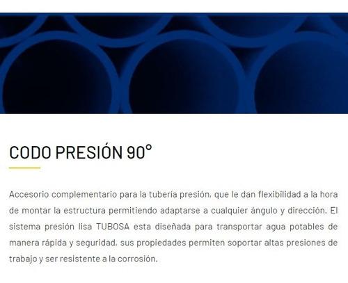 caja codo 1 1/2 presion 90° tubosa