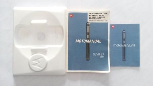caja completa moto slvr l7 con manual