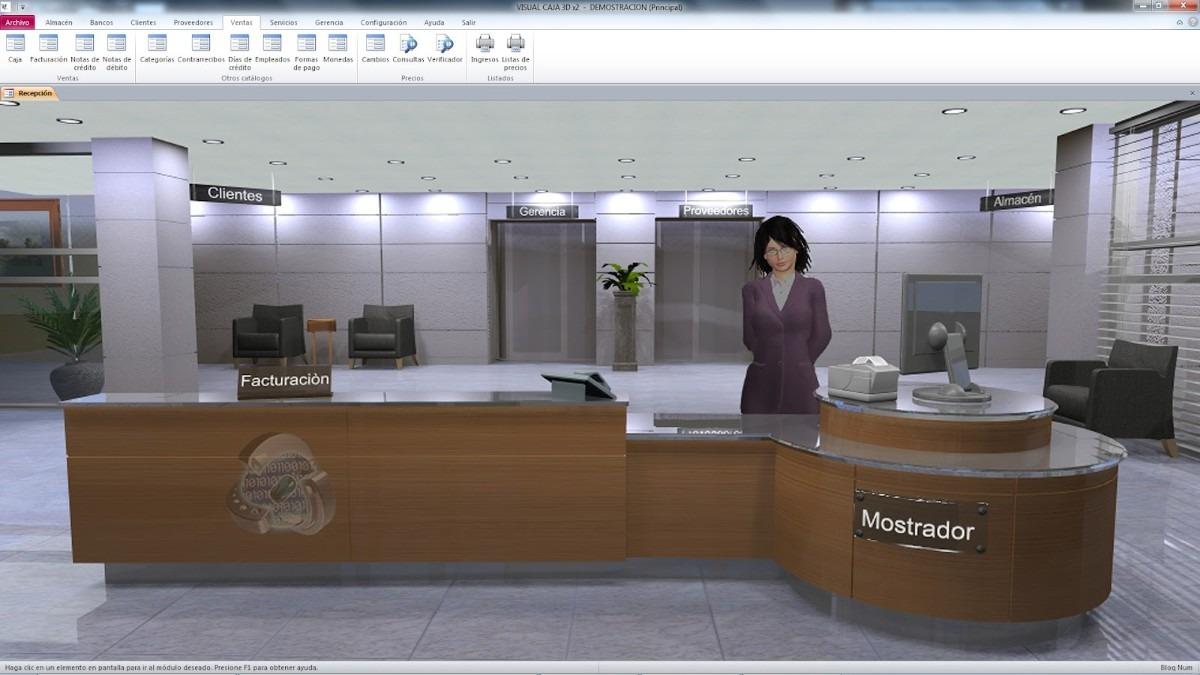 Caja computarizada punto venta para oficinas afines for Caja de ingenieros oficinas