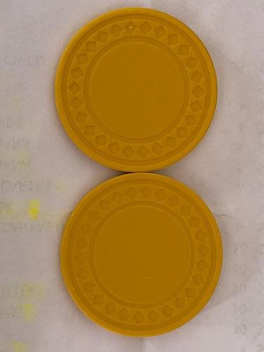 caja con 100 fichas de pasta sin denominacion 7.5gm