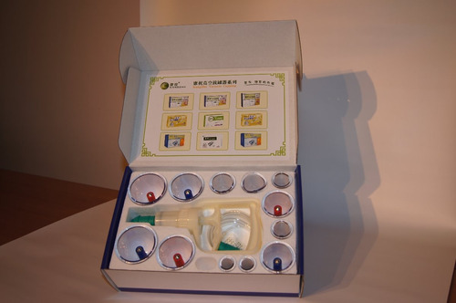 caja con 12 ventosas acrilicas  kangzhu  / medio evo