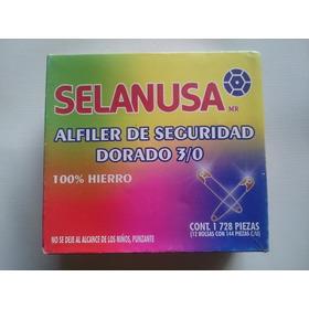 Caja Con 1728 Seguros Dorados - 3/0 - Alfiler De Seguridad