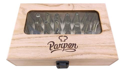 caja con 24 boquillas grandes y manga parpen