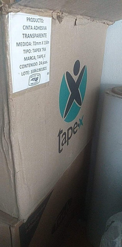caja con 24 rollos cinta transparente 72x150