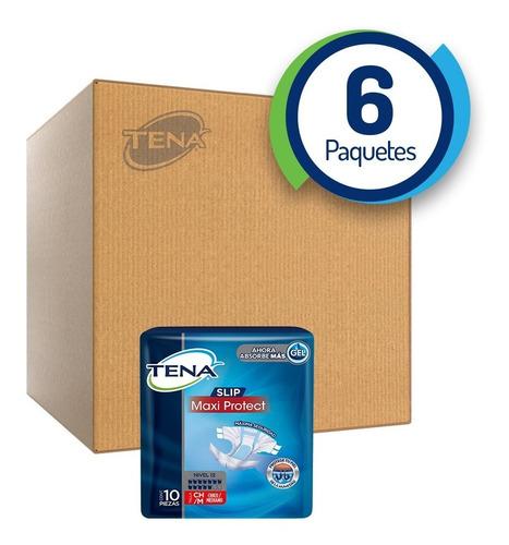 caja con 6 tena slip maxi protect ch/m 60 pzs