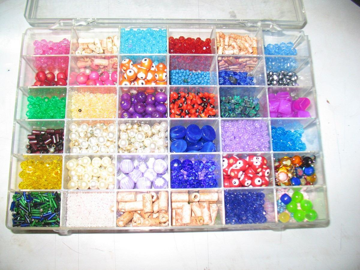 Caja con piedras canutillos y mostasillas para hacer - Cosas para hacer en casa ...