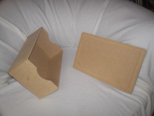 caja con tapa, organizador en mdf crudo