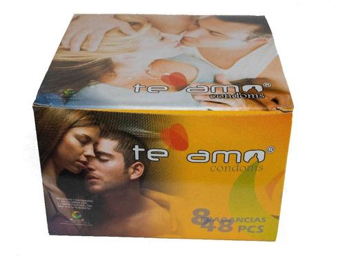 caja condones preservativos te amo display 144 unidades