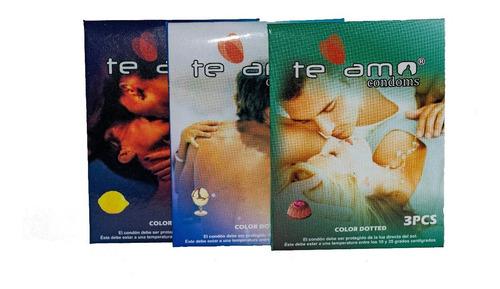 caja condones preservativos te amo display:24 sobres, 72 und