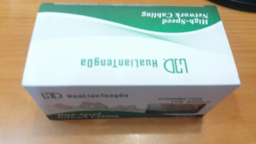caja conectores rj 45 cat5e, 100 unidades, tienda fisica