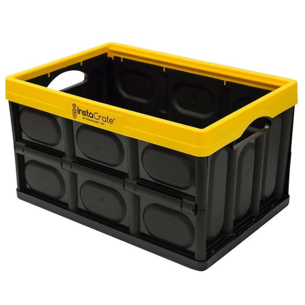 caja contenedor archivero plastico plegable instacrate