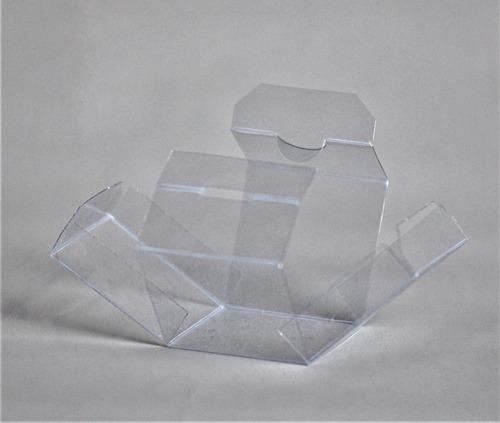 caja cubo pvc cristal 6x6x6 cm (x50 u.) souvenir macarons cookies bombones huevo acetato - 102c bauletto