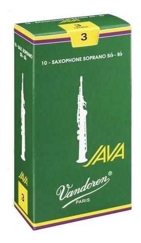 caja de 10 cañas vandoren para saxo soprano java