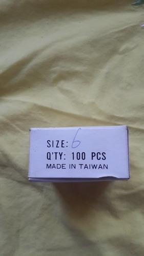 caja de 100 anzuelos para pesca tipo pico de loro nro 4