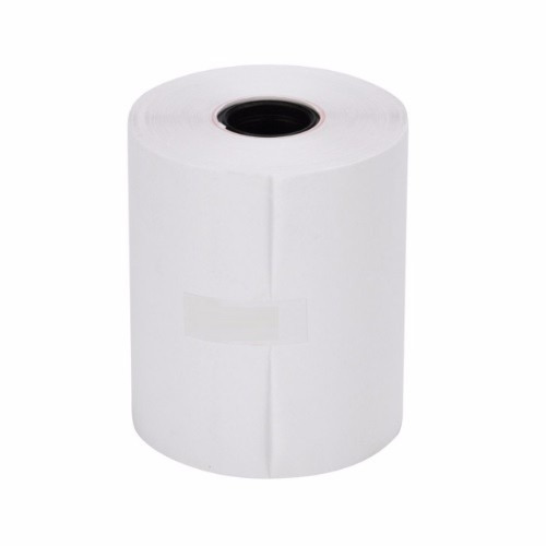 caja de 100 rollos papel térmico 37x55 mm caja registradora