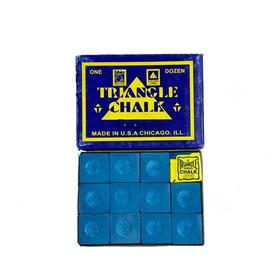 Caja De 12 Tizas De Pool Triangle Profesional