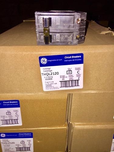 caja de 5 breaker thql 2x20 general electric tienda