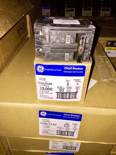 caja de 5 breaker thql 2x40, 2x50, 2x60 general electric