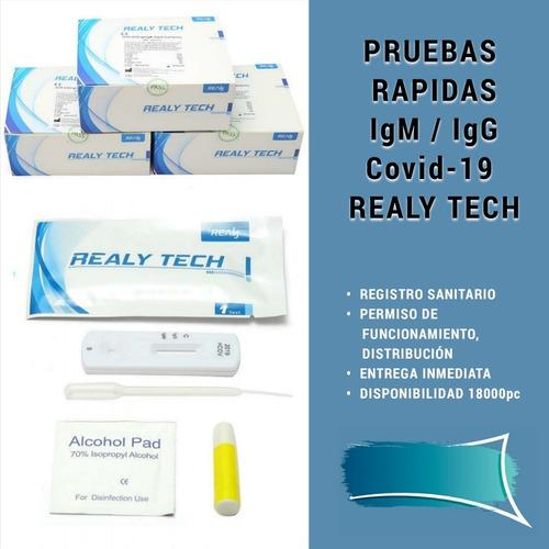 caja de 5 pruebas rápidas igm/igg para covid-19 realy tech