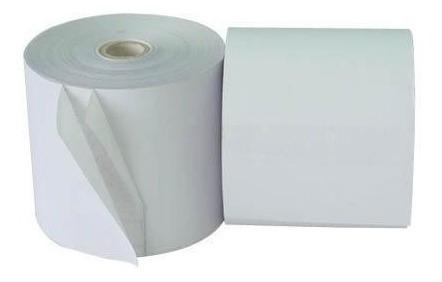 caja de 50 rollos en papel químico 2 partes 75x65mm