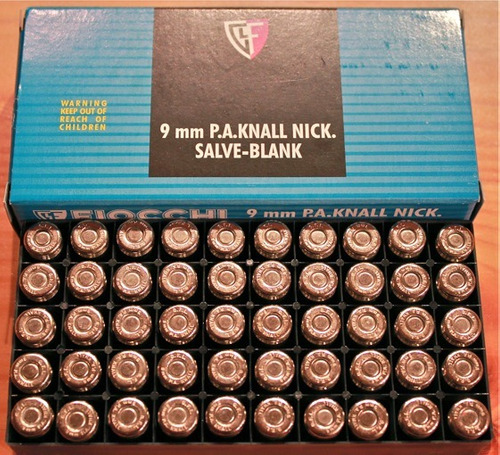 caja de 50 salvas para pistola de fogueo