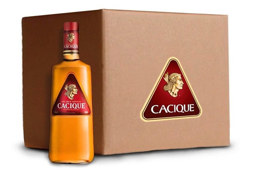 caja de 9 botellas ron cacique añejo 1,002l 40° lf
