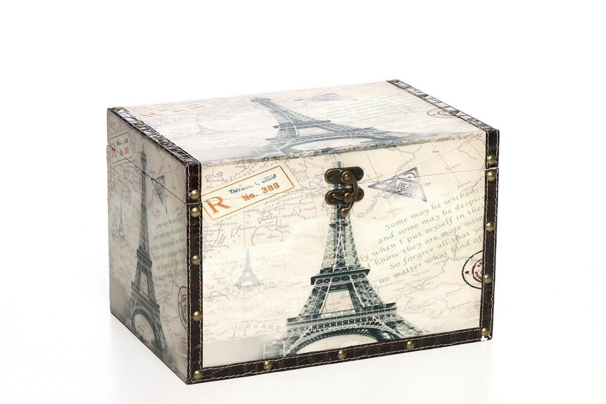 Caja De Almacenaje Decorativa De Madera Grande Paris De H