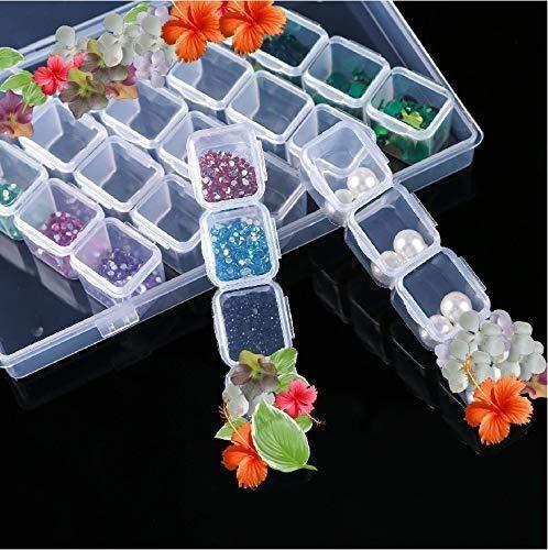 caja de almacenamiento de diamantes para pintar con borda
