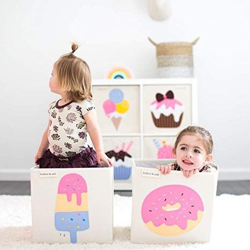 caja de almacenamiento de lona para juguetes1  kaikai & ash