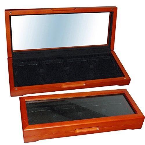 caja de almacenamiento de monedas de madera para 4 grados