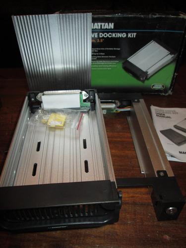 caja de aluminio con llave para disco duro