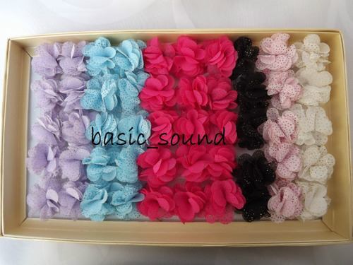 caja de anillos de flor de fantasia con 50pzas  2 modelos