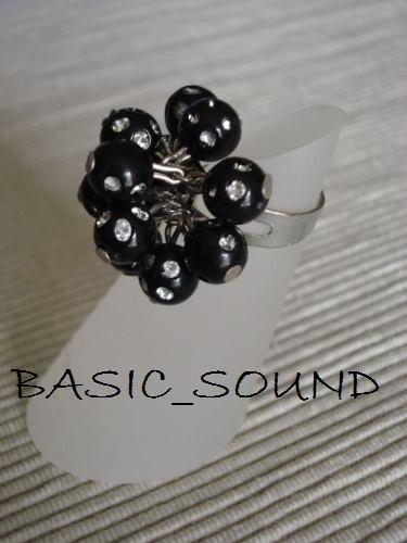 caja de anillos perla con brillos c/ 50 pzas  haz negocio!!