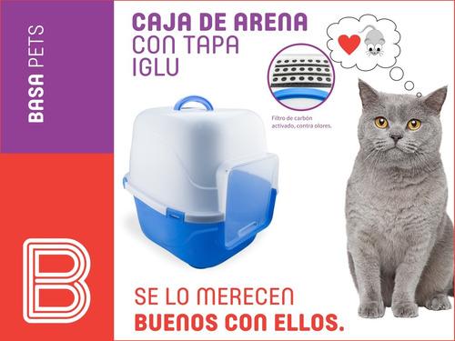 caja de arena para gatos tipo iglu + envio gratis todo lima