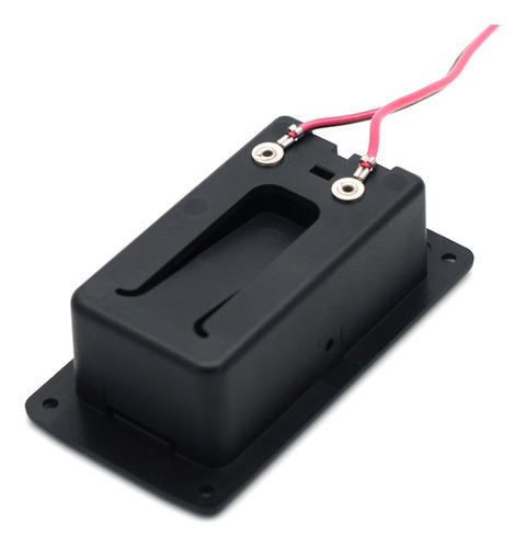 caja de batería de pastilla activa de guitarra 9v funda
