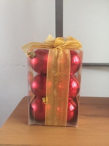 caja de bolitas de navidad 12 pieza,solo me queda esa unidad