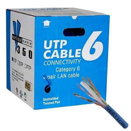 Caja de cable para red utp cat 6e tipo b 305m for Cable de red categoria 6