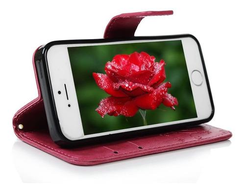caja de carpeta mollycoocle iphone 5s la mariposa de pu de t