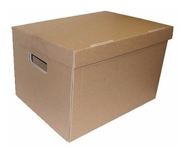 caja de carton corrugado: modelo archivador